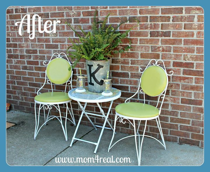 outdoor seating redo, outdoor furniture, outdoor living, painted furniture