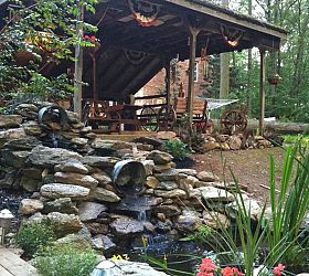 my waterfall ponds and deck, decks, outdoor living, ponds water features
