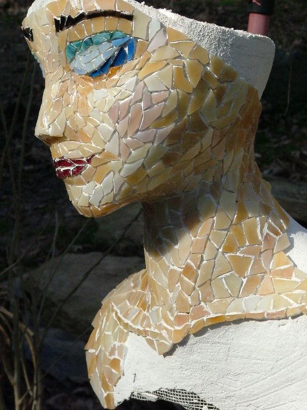 unfinished mosaic mixed media, crafts, tiling