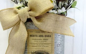 Creating Non-traditional Wreaths From Galvanized Containers