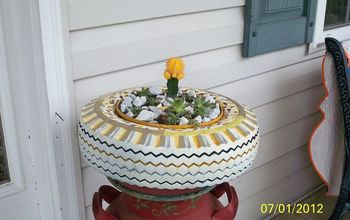 THE LEOPARD TIRE PLANTER