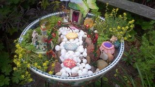 q teeny tiny little gnome home garden, gardening, This is how my little fairy garden turned out It was soo much fun I am making more It seems all my friends want one now for their grandchildren lol