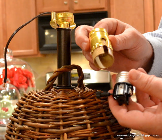 Follow the manufacturer's directions for wiring the lamp.