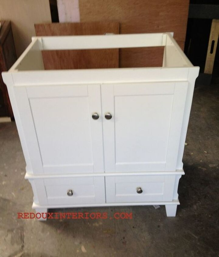 out of the box bathroom vanity turns rolling kitchen island, painted furniture, rustic furniture