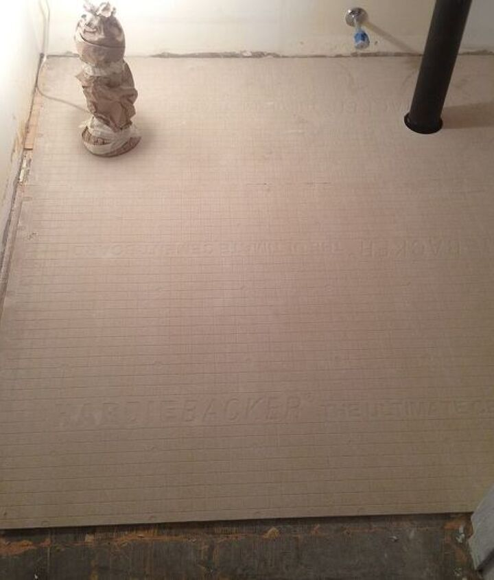 Add HardieBacker or Cement Board to your wood subfloor to create a rock solid substrate for ceramic or porcelain tile.