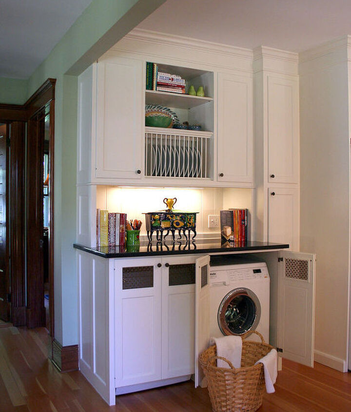 Hidden Washer & Dryer in Kitchen ~ More Room for a Growing Family, While Retaining Queen Anne's Integrity. ~ Titus Built, LLC