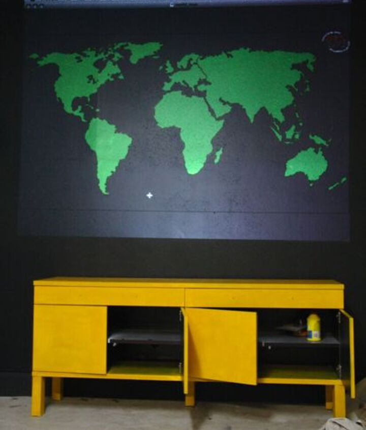 Use a projector to put image on the wall. Trace the lines with a pencil or chalk.
