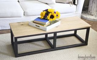 diy industrial coffee table, painted furniture