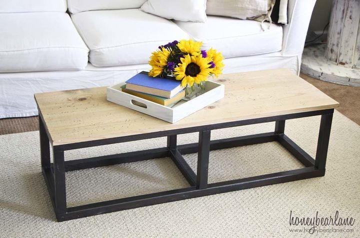 diy industrial coffee table, painted furniture