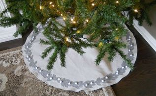 christmas tree skirt tutorial, christmas decorations, seasonal holiday decor