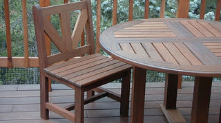 using an indoor piece of furniture outdoors, outdoor furniture, painted furniture, repurposing upcycling, outdoor furniture