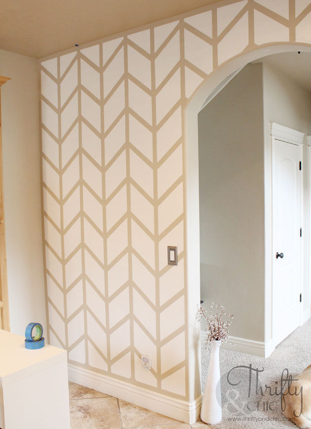 Herringbone Pattern Accent Wall | Hometalk on interior decorating kitchen ideas, accent wall colors kitchen ideas, crown molding kitchen ideas,