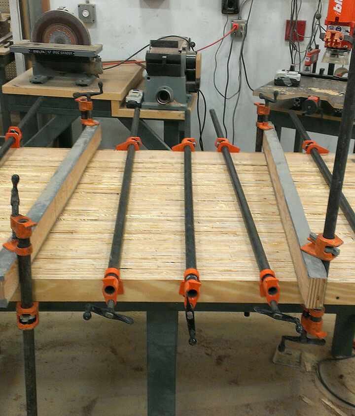 Glue + clamp all your plywood strips together