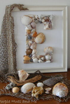 diy seashell monogram, crafts