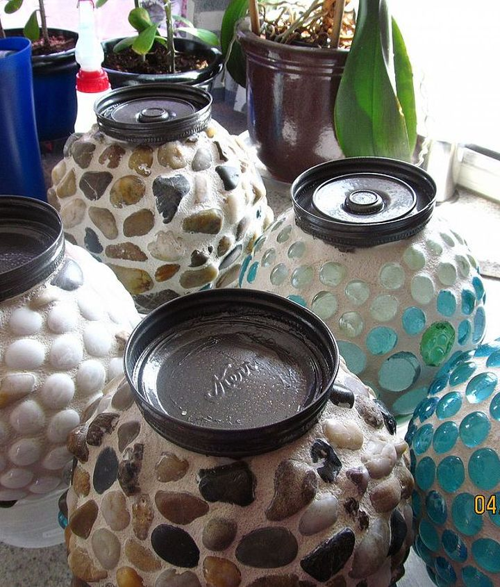 garden globes, crafts, mason jars, Finished drying inside
