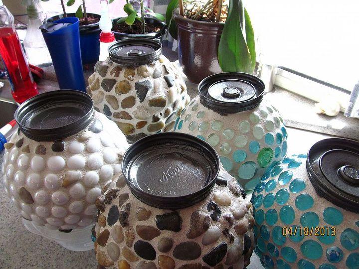 garden globes, crafts, mason jars, Finished drying inside