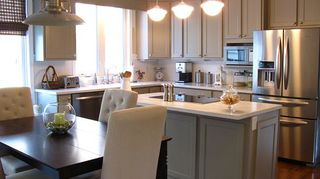 q kitchen cabinets reface or just buy new, doors, kitchen cabinets, kitchen design, The kitchen after the second refacing