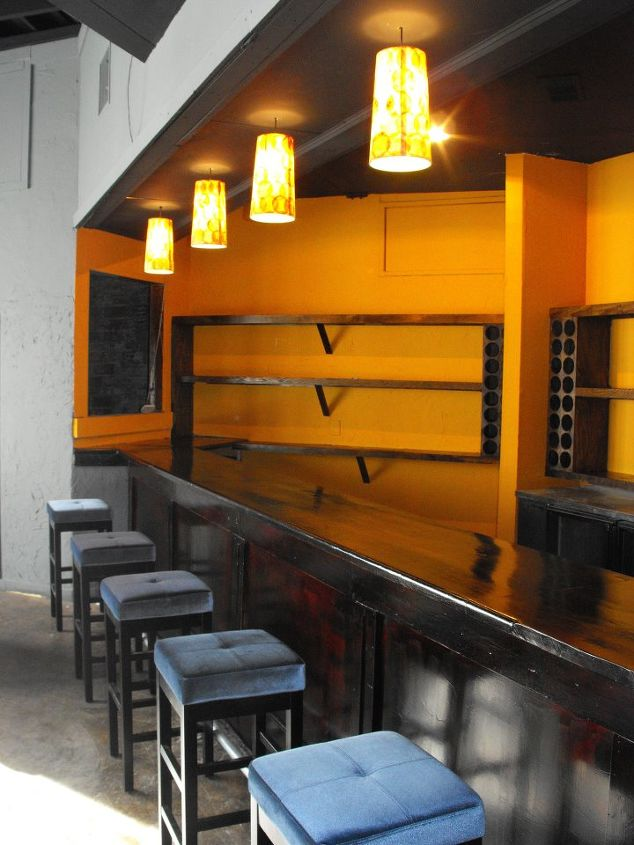 studio 7 after, home decor, The Lounge Craft Bar Color is Curry from Sherwin Williams How Jamaican can that get
