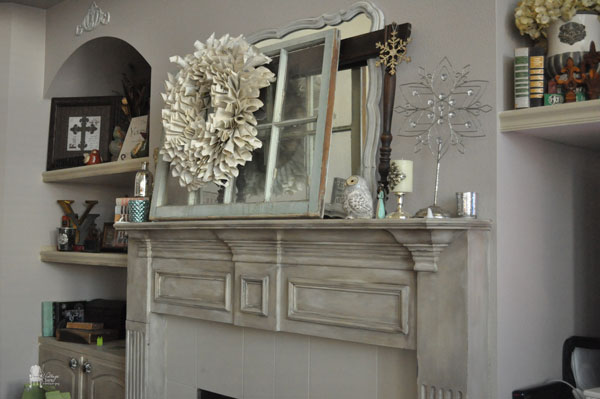 Chalk Painted Fireplace Mantel Hometalk