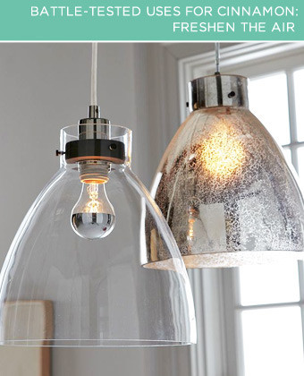 Freshen the Air. A light bulb can do more than light up a room – it can make the space smell great, too! Turn a basic bulb into a scent diffuser by rubbing a drop of cinnamon essential oil onto the bulb when it's cool.
