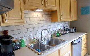 faux subway tile painted backsplash the big reveal, home decor, kitchen backsplash, kitchen design, painting