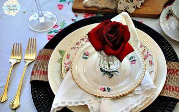 Romantic Valentine Tablescape For Two