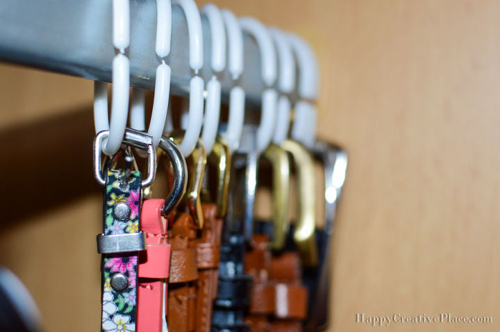 easiest way to organize belts, organizing