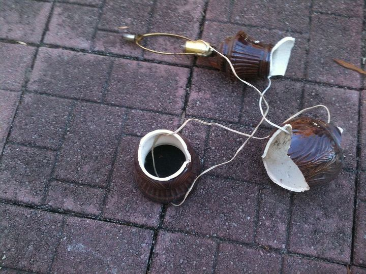 """the old """"Broken"""" lamp I rescued off the side of the road for it's components"""