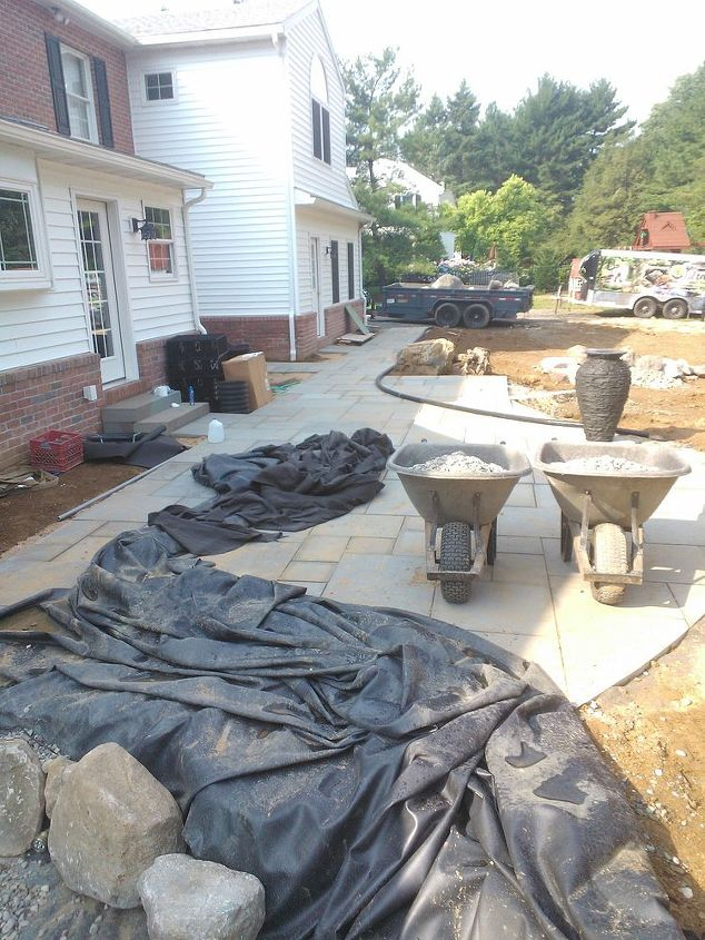 complete backyard renovation, decks, diy, gardening, outdoor living, ponds water features