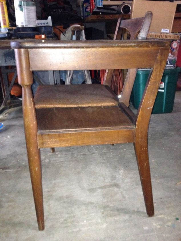 before amp after makeover for antique gossip bench chair, painted furniture, shabby chic