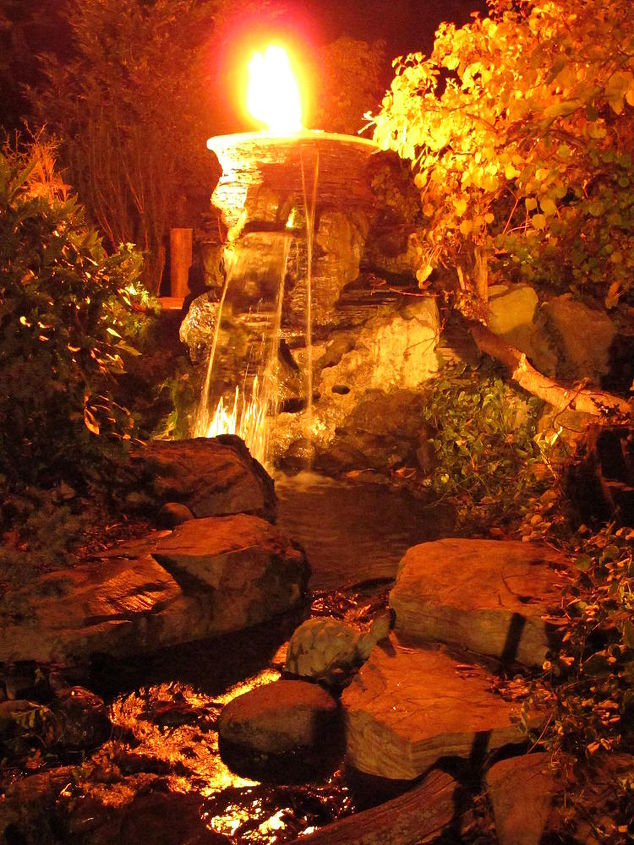 fire amp water bowl, outdoor living, ponds water features