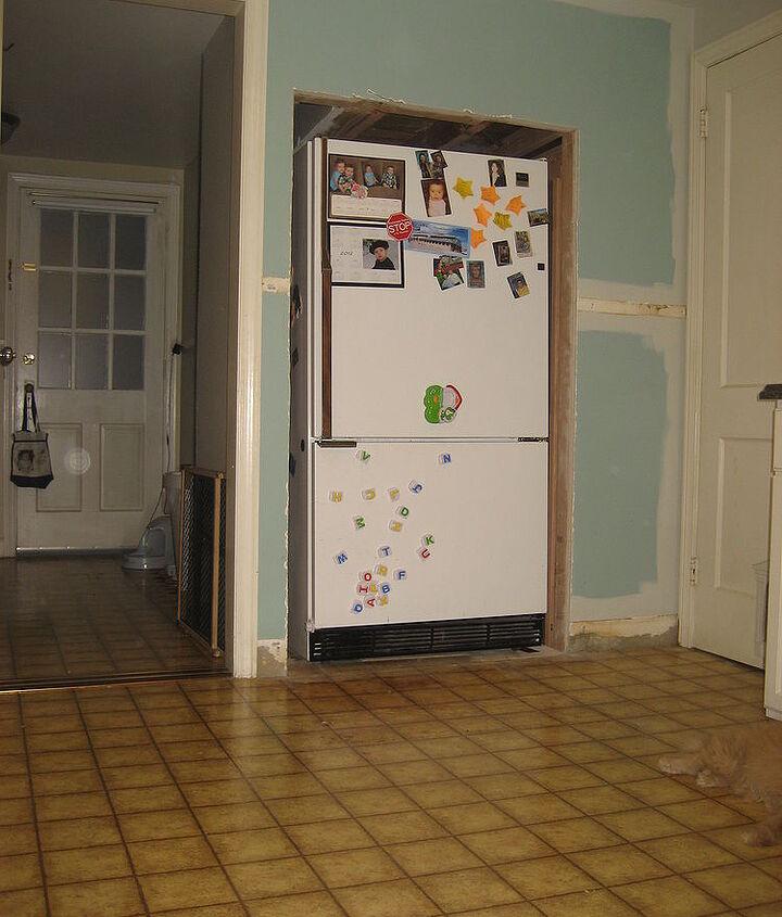 building a pocket recessing our fridge, appliances, garages, home improvement, kitchen design