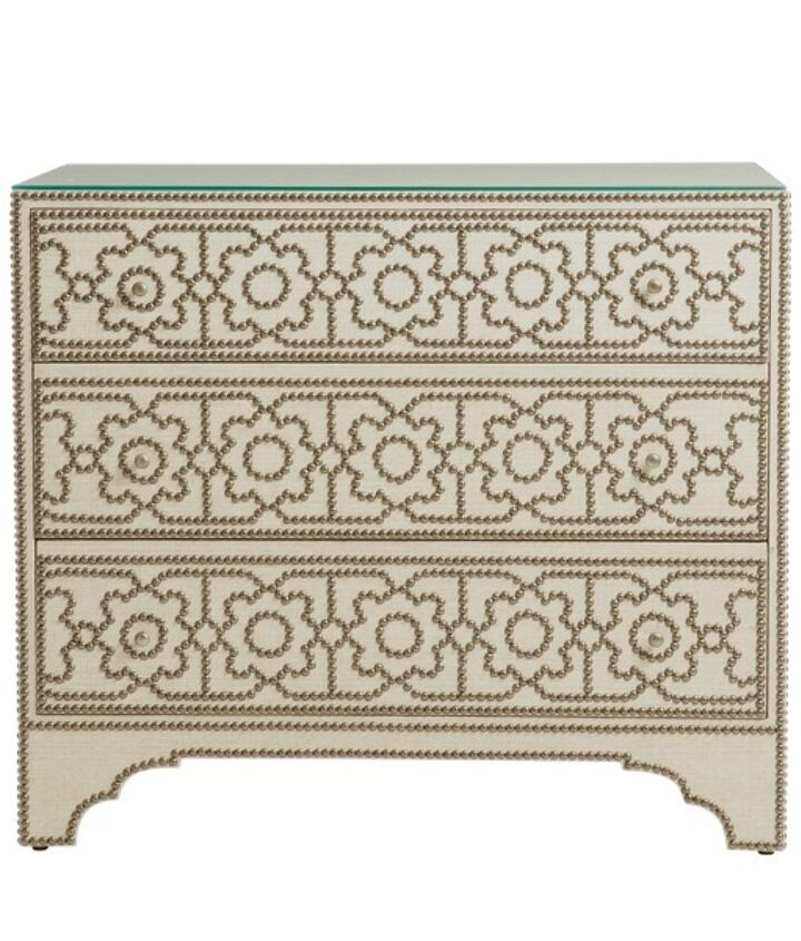 My designer inspiration - beautiful but expensive  http://www.madincrafts.com/2013/02/designer-inspired-nailhead-table-for-6.html