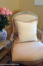 french chair makeover, painted furniture