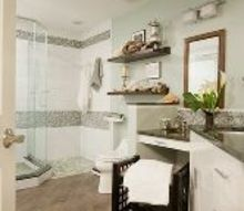 master bedroom spa and coastal inspired, bathroom ideas, home decor, After The look is much larger prettier and a more functional space