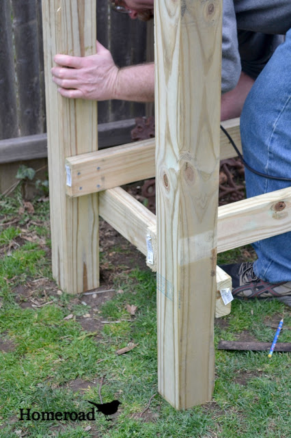 Pressure treated 4x4's cut at the store