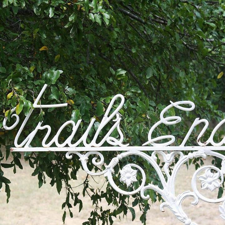 "The name of our little farm, ""The Trail's End at Hawk's Creek""."