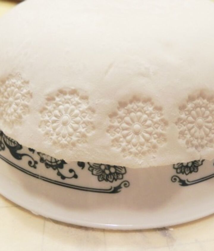 The clay takes clear imprints of the stamp.  http://www.madincrafts.com/2013/02/diy-stamped-clay-dish.html