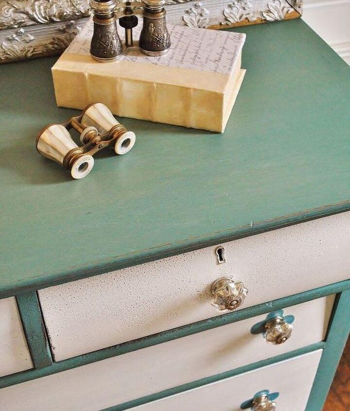 milk paint dresser rehab, painted furniture