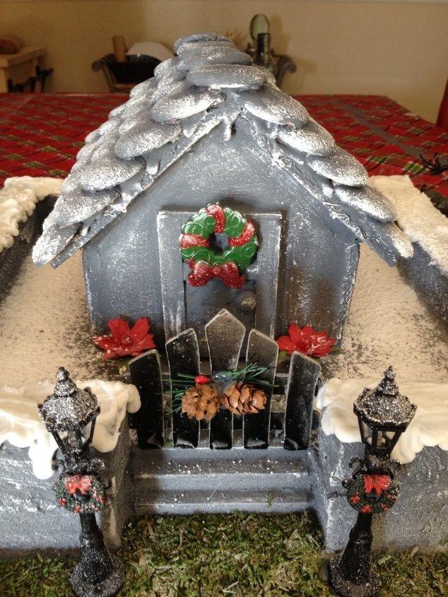 haunted christmas village, crafts, seasonal holiday decor