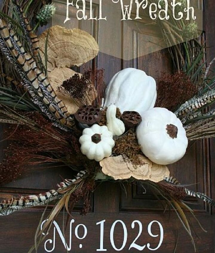 My White Pumpkin Wreath