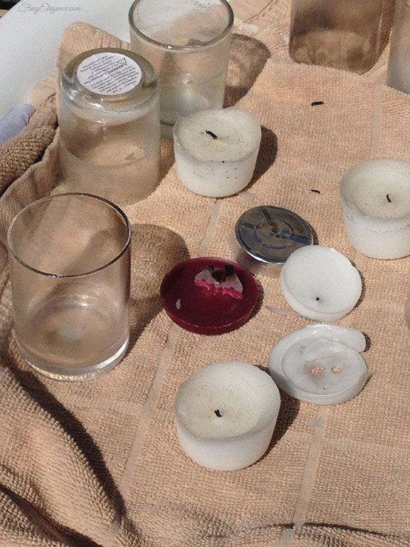 easy way to clean votive candle holders, cleaning tips