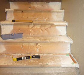 Awesome Removing Carpet From Stairs And Painting Them, Painting, Stairs, Step 1  Remove The