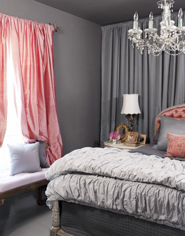 3. Color Scheme - Between the window treatment, accent wall with drapery and the chandelier - this space appears larger