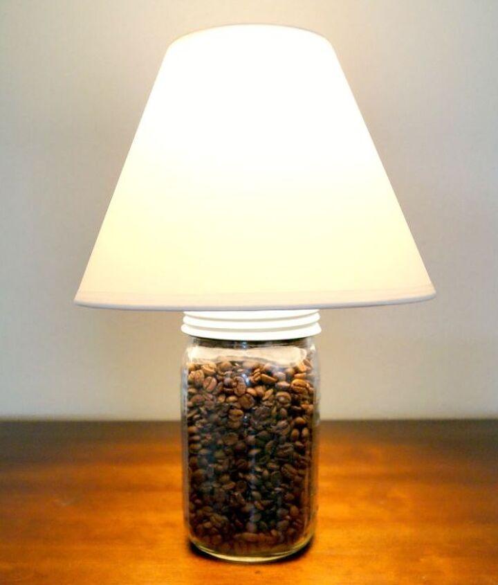 My 5-minute coffee bean lamp!