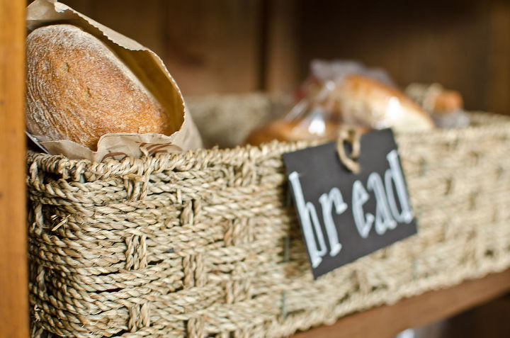 Keep the bread close by in a great textured basket.