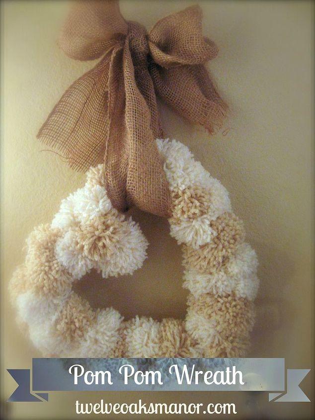 pom pom heart wreath, crafts, seasonal holiday decor, wreaths, My version of a Valentine Heart Wreath made from yarn pompoms