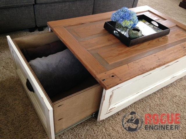 diy storage coffee table, painted furniture, repurposing upcycling, storage ideas
