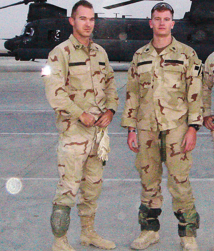 http://beachbumlivin.com Me and Jimmy, Afghanistan 2005