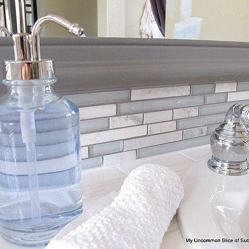 Step by step tutorial on how to update a tired backsplash.